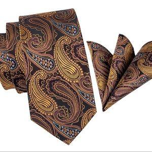 Men's Silk Hand Tailored Coordinated Tie Set